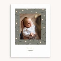 Affiche Déco Chambre Enfant Liberty Kaki, Portrait de famille
