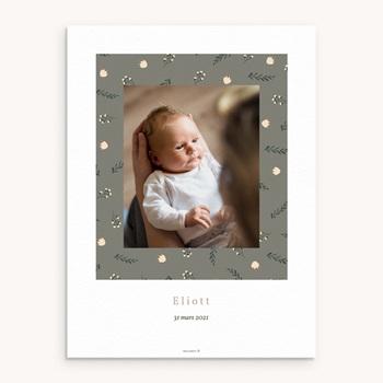 Affiche Déco Chambre Enfant Liberty Kaki, Portrait de famille pas cher