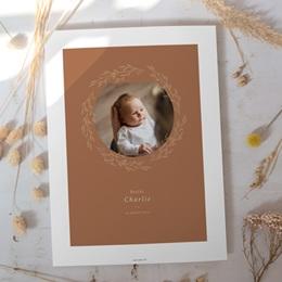 Affiche Déco Chambre Enfant Couronne monochrome Caramel, Photo gratuit