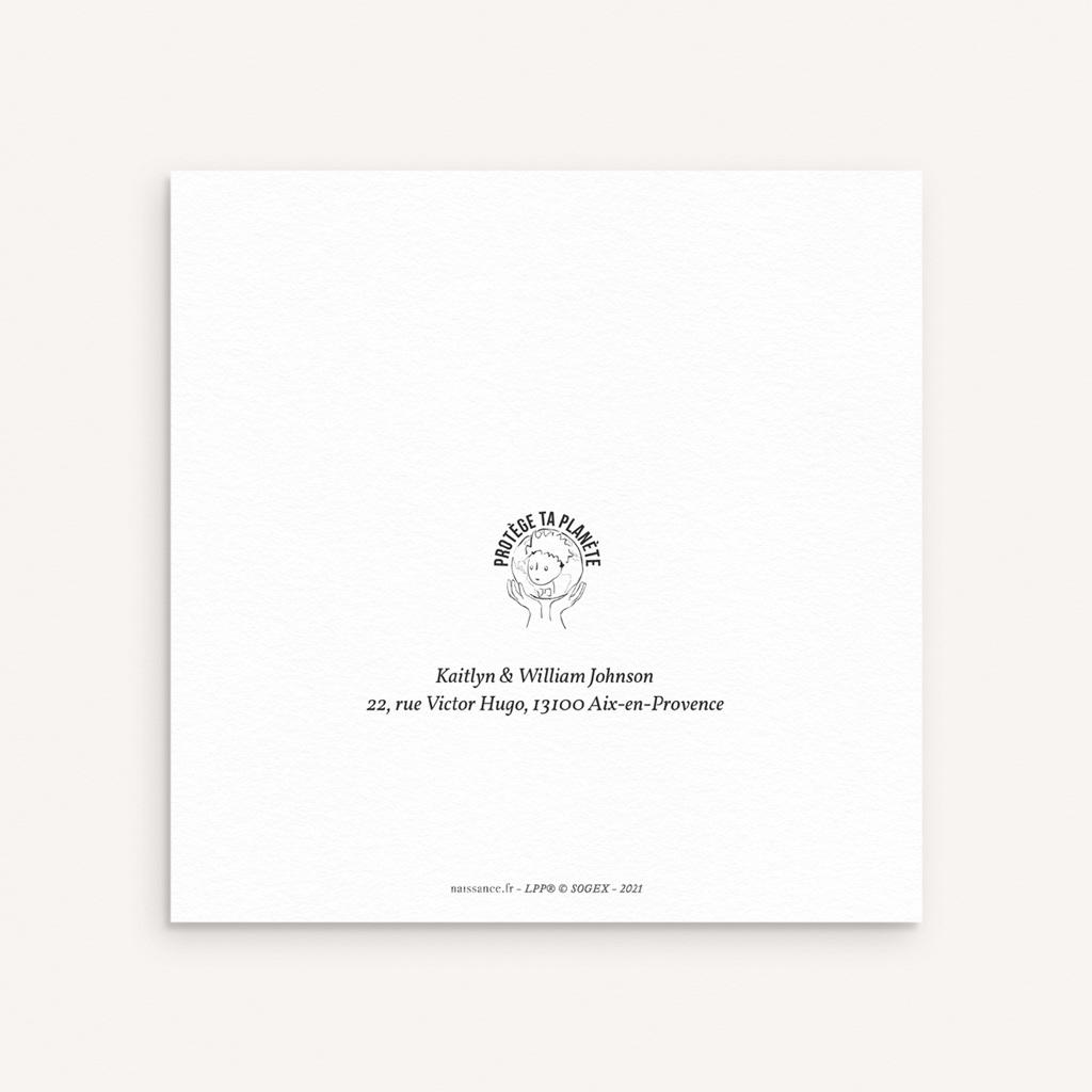Faire-part de Naissance L'amitié du renard