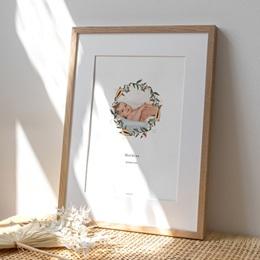 Affiche Déco Chambre Enfant Couronne exotique, Photo de bébé
