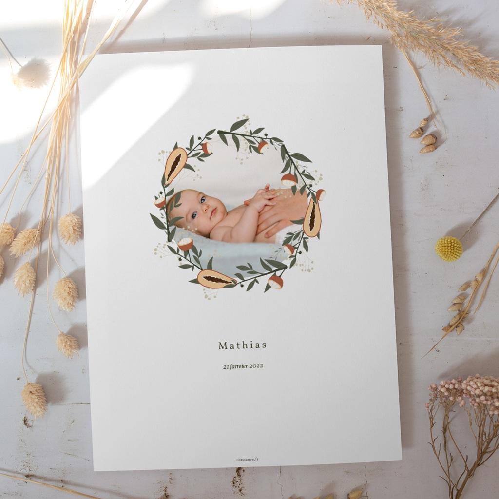 Affiche Déco Chambre Enfant Couronne exotique, Photo de bébé gratuit