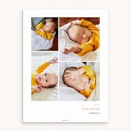 Affiche Déco Chambre Enfant Multiphoto Initiale Terracotta