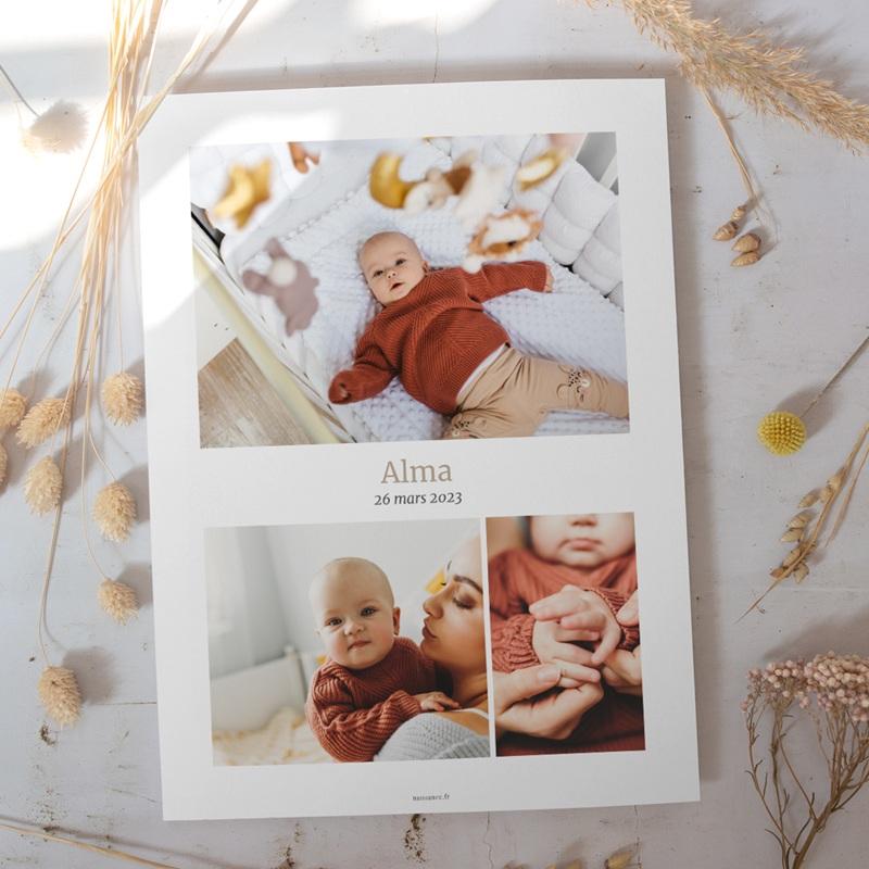 Affiche Déco Chambre Enfant Multiphoto Beige Rosé gratuit