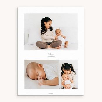 Affiche Déco Chambre Enfant Multiphoto Gris Bleu personnalisé