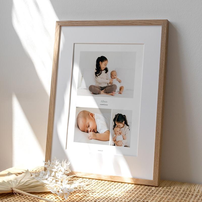 Affiche Déco Chambre Enfant Multiphoto Gris Bleu