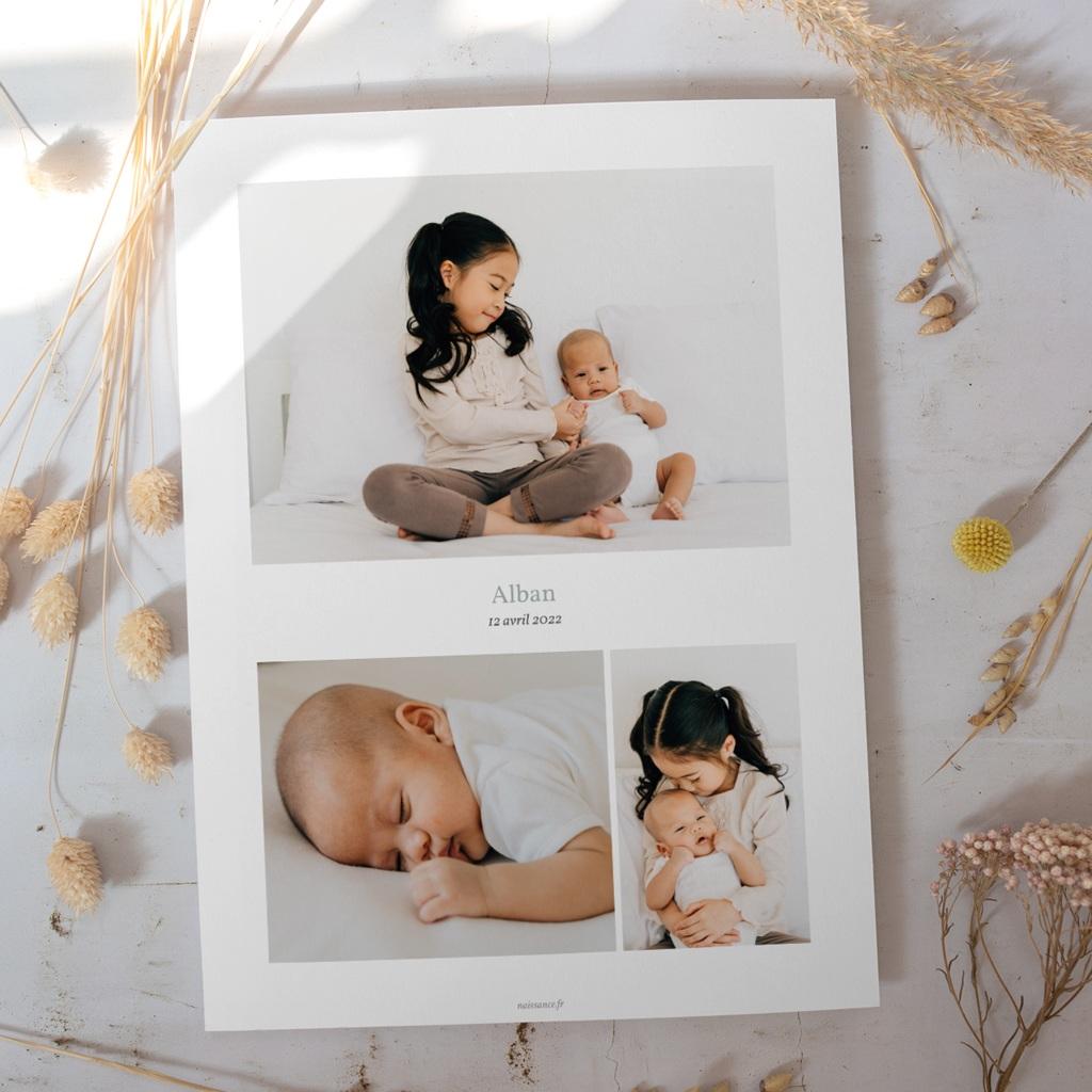 Affiche Déco Chambre Enfant Multiphoto Gris Bleu gratuit