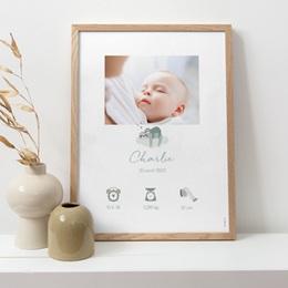 Affiche Déco Chambre Enfant Petit Paresseux et sa maman pas cher