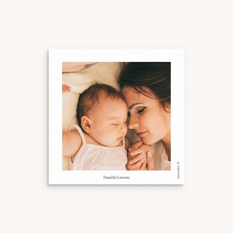 Carte de Remerciement Baptême Petit mot fleuri pas cher