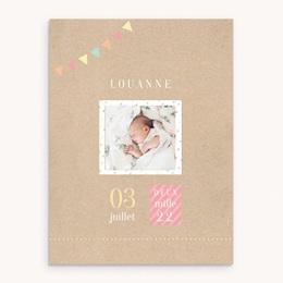 Affiche Déco Chambre Enfant Pastel Kraft fille