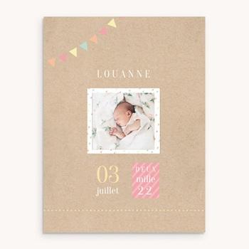 Affiche Déco Chambre Enfant Pastel Kraft fille personnalisé