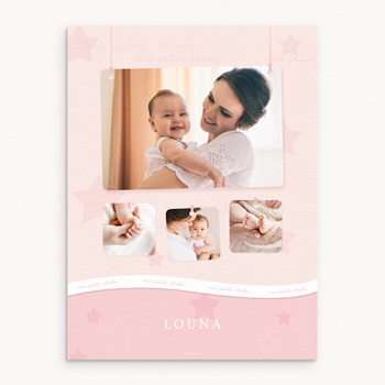 Affiche Déco Chambre Enfant Tendresse fille pas cher