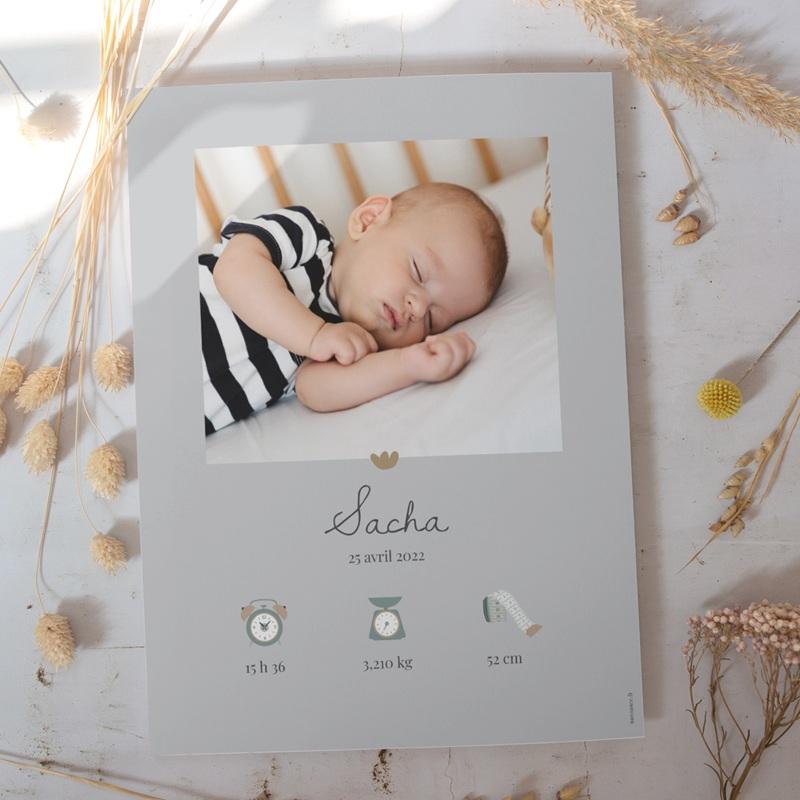 Affiche Déco Chambre Enfant Lama Tout doux, gris gratuit