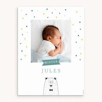 Affiche Déco Chambre Enfant Mister Ours personnalisé