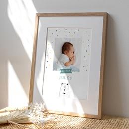 Affiche Déco Chambre Enfant Mister Ours