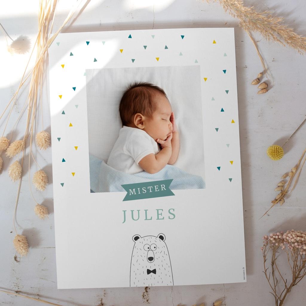 Affiche Déco Chambre Enfant Mister Ours gratuit