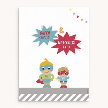 Affiche Déco Chambre Enfant Les super héros pas cher