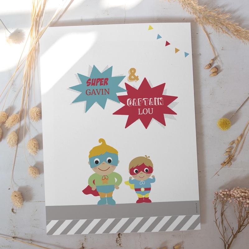 Affiche Déco Chambre Enfant Les super héros gratuit