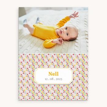 Affiche Déco Chambre Enfant Triangles pastel