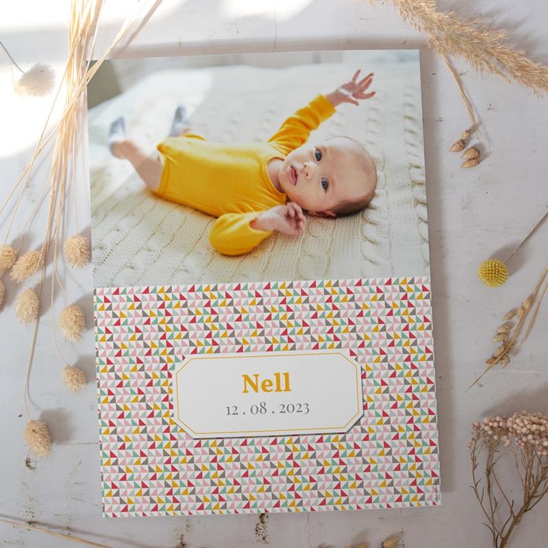 Affiche Déco Chambre Enfant Triangles pastel gratuit