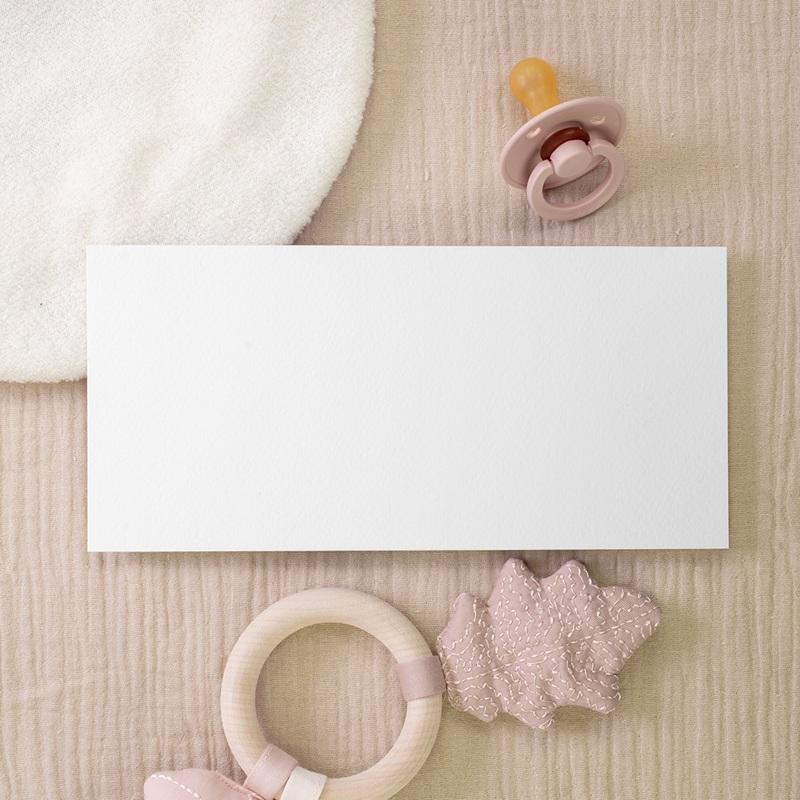 Faire-part de Naissance vierge format E gratuit