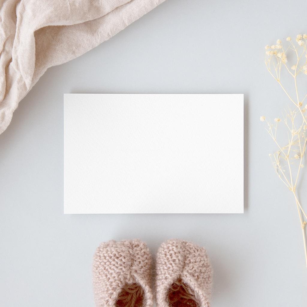 Carte de Remerciement Naissance vierge GI1