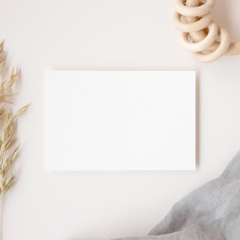 Carte de Remerciement Naissance vierge GI1 gratuit