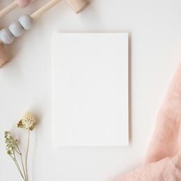 Carte de Remerciement Naissance vierge GI2 gratuit