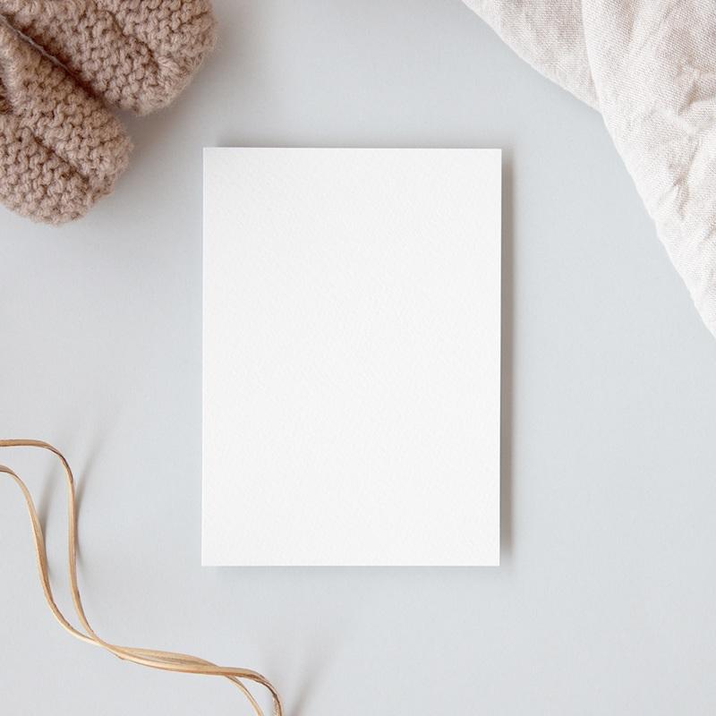 Carte de Remerciement Naissance vierge RM2 gratuit