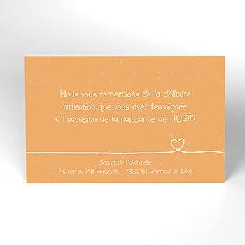 Carte de Remerciement Naissance Me Voilà !