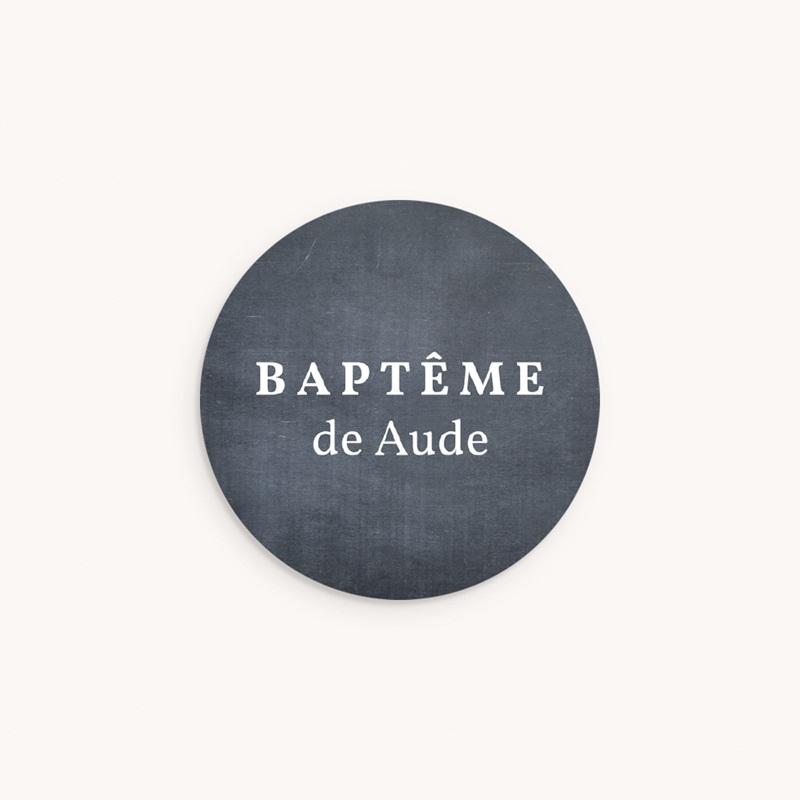 Sticker Enveloppe Baptême Ardoise pour baptisée
