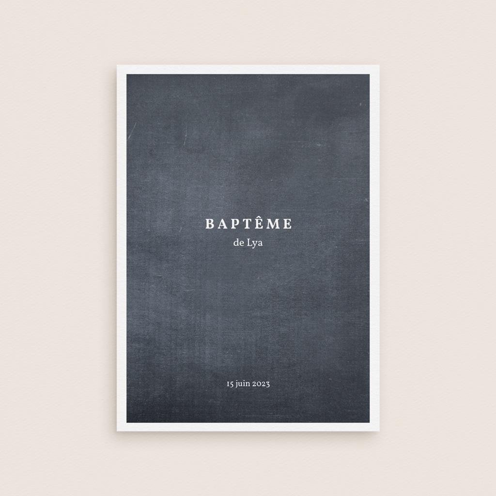 Livret de Messe Baptême Ardoise fille, couverture gratuit