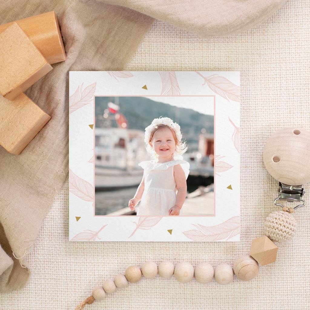 Carte de Remerciement Baptême Envol gratuit