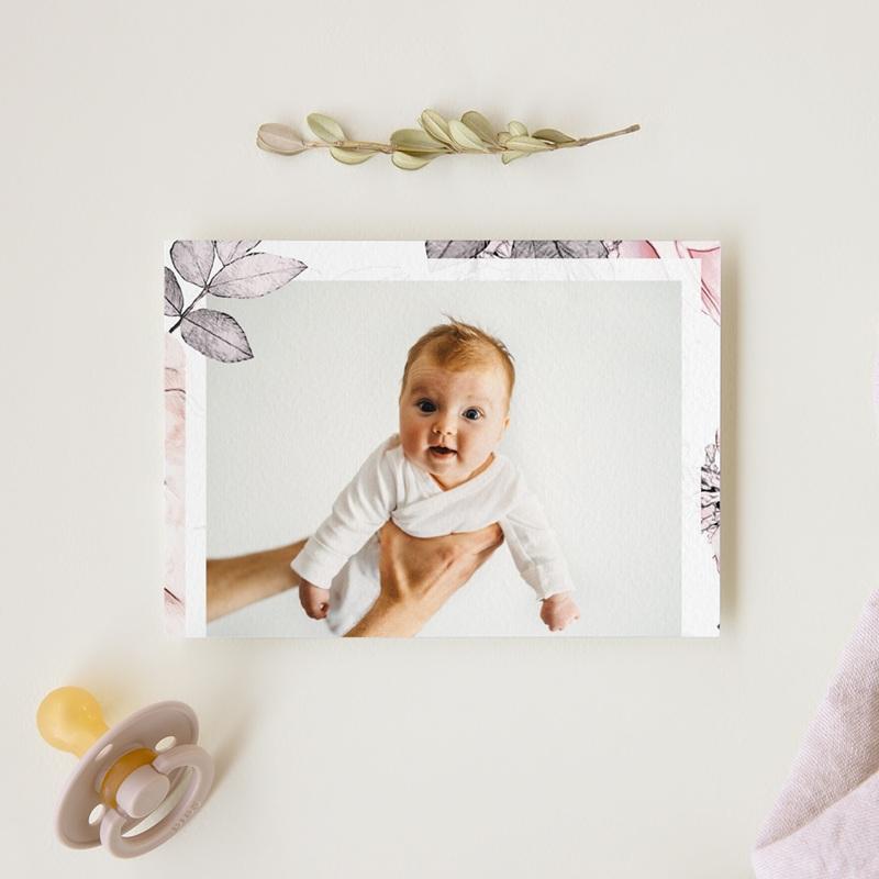 Carte de Remerciement Baptême Lily Rose, Photo