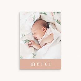 Carte de Remerciement Baptême Petite Mademoiselle