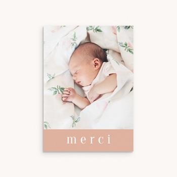 Carte de Remerciement Baptême Fille
