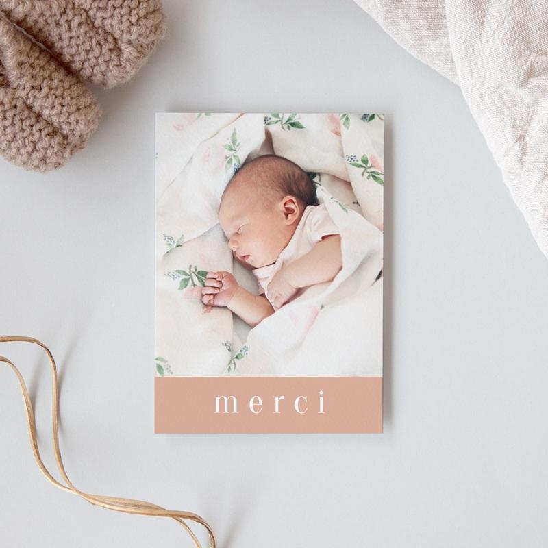 Carte de Remerciement Baptême Petite Mademoiselle gratuit