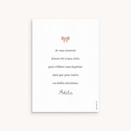 Carte de Remerciement Baptême Petite Mademoiselle pas cher