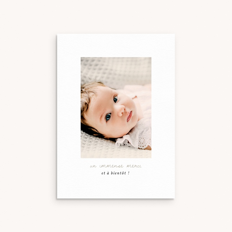Carte de Remerciement Naissance Princesse des coeurs