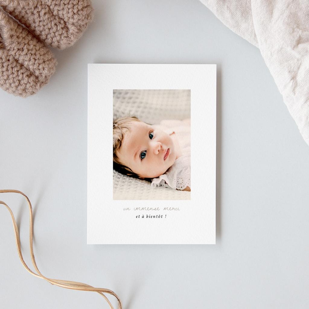 Carte de Remerciement Naissance Princesse des coeurs gratuit