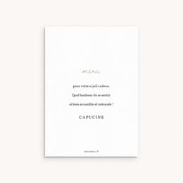 Carte de Remerciement Naissance Princesse des coeurs pas cher