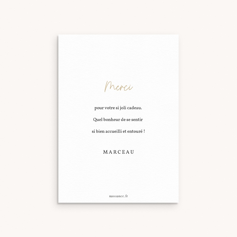 Carte de Remerciement Naissance Prince des coeurs pas cher