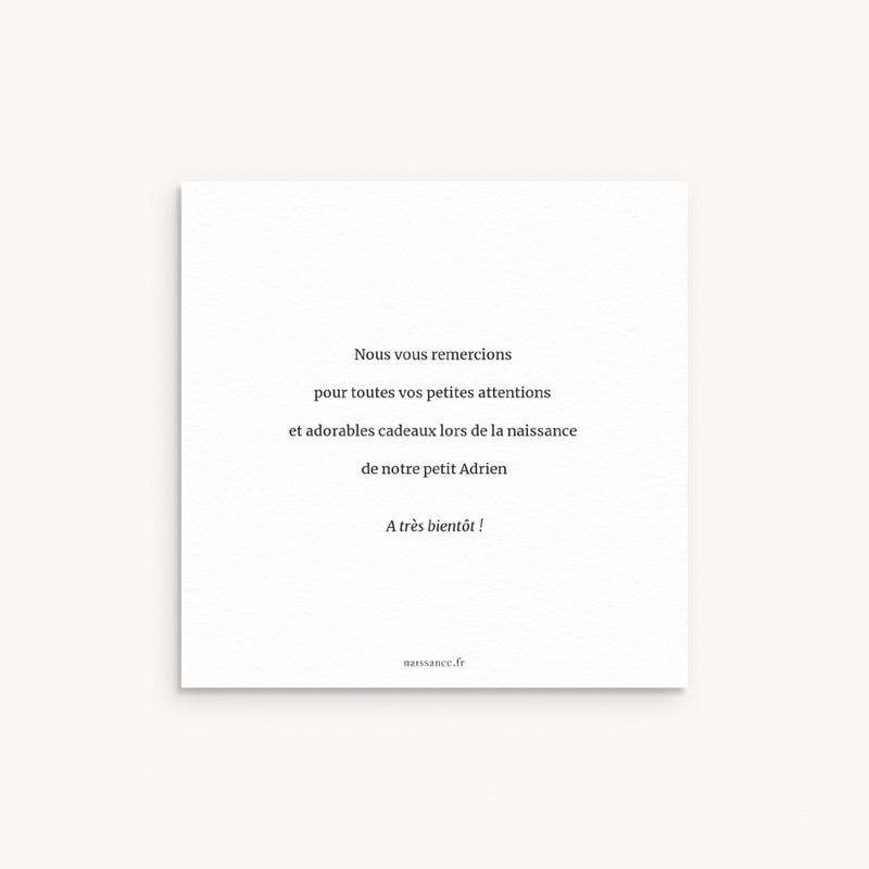 Carte de Remerciement Naissance Notre Petit Script, 10 X 10 pas cher
