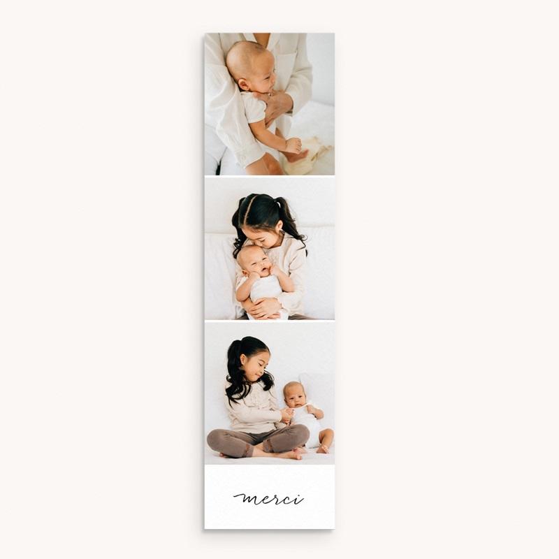 Carte de Remerciement Naissance Notre bébé garçon, 3 Photos