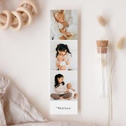 Carte de Remerciement Naissance Notre bébé garçon, 3 Photos gratuit