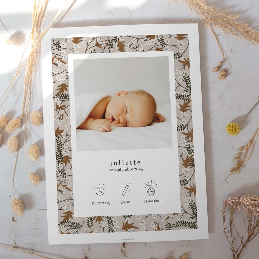 Affiche Déco Chambre Enfant Liberty Cerisier japonais, Déco gratuit
