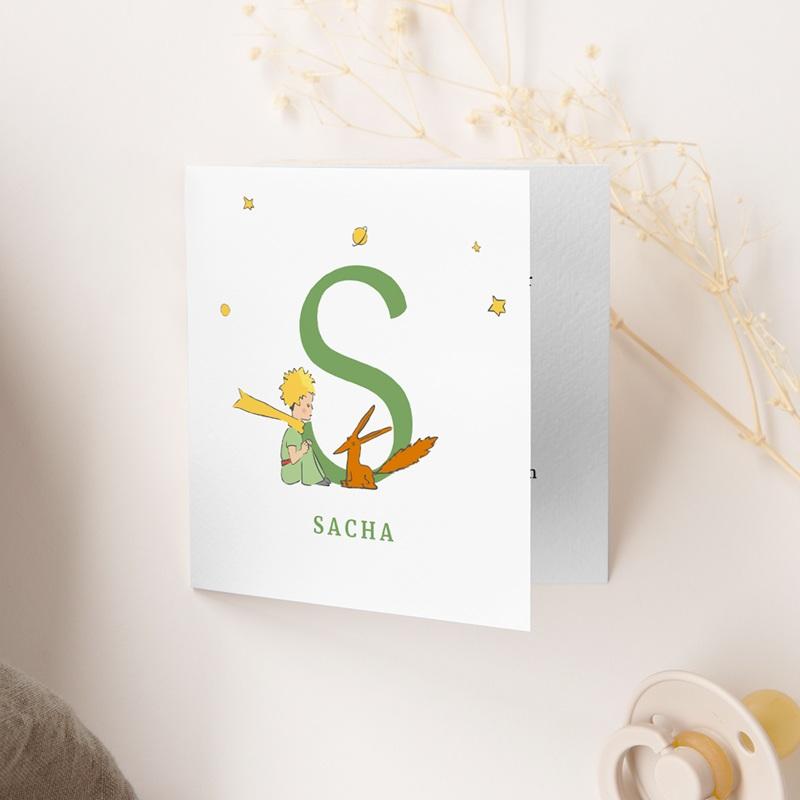 Faire-part de Naissance Initiale du Renard, 9,5 x 9,5 cm gratuit