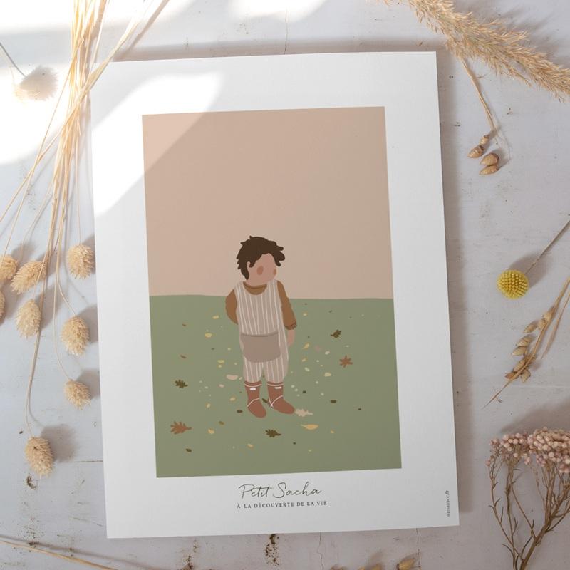 Affiche Déco Chambre Enfant Petit garçon Brun gratuit