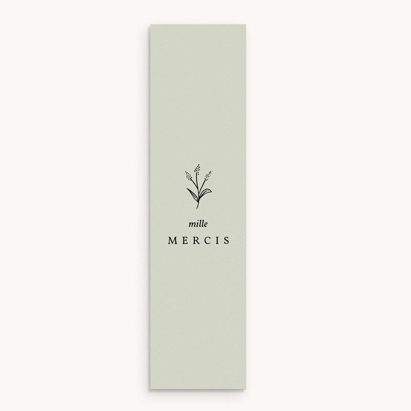 Carte de Remerciement Naissance Brin Floral, photo, 5,5 x 21 cm