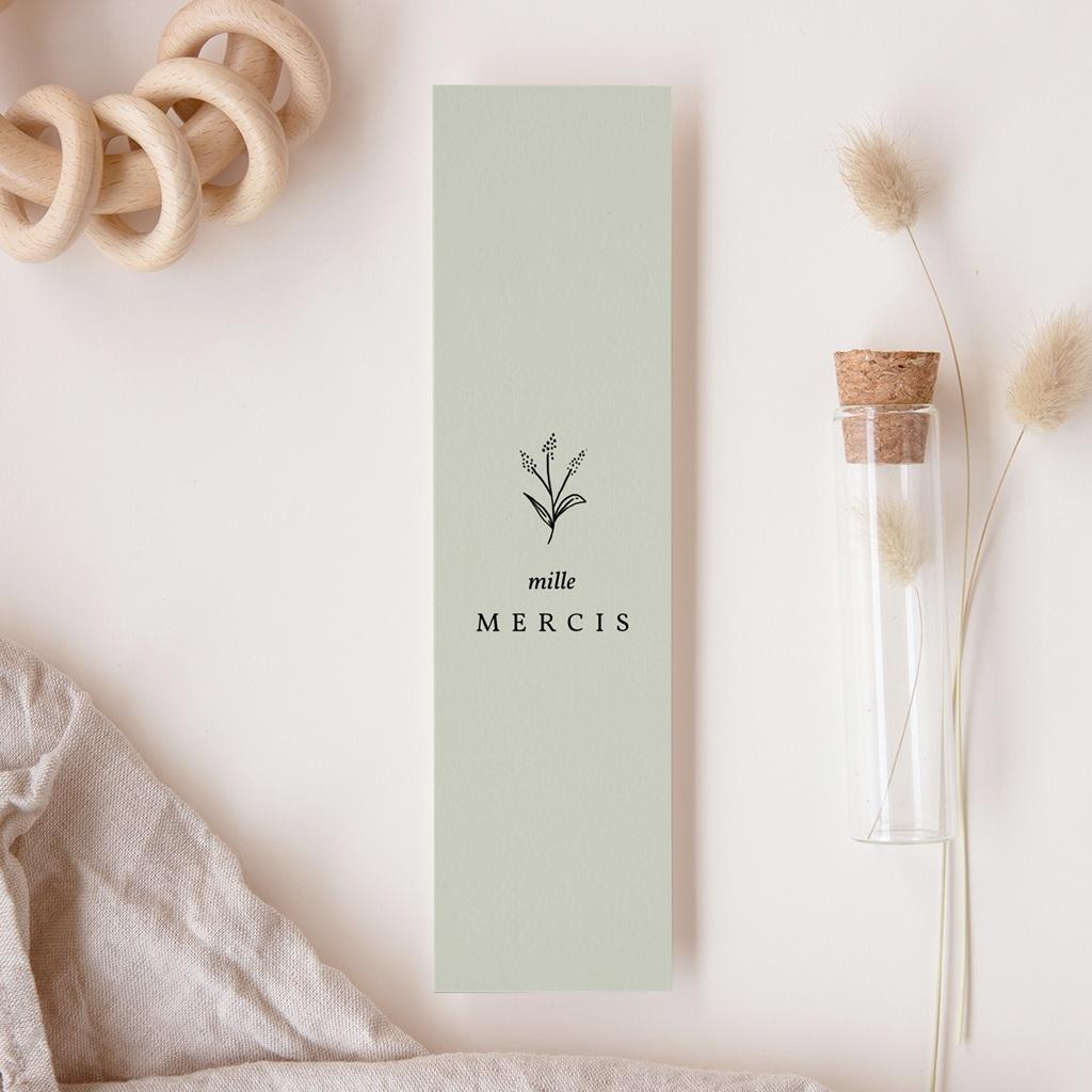 Carte de Remerciement Naissance Brin Floral, photo, 5,5 x 21 cm gratuit